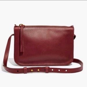 madewell • simple crossbody bag dark cabernet